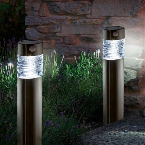 solar bollard lights solar powered motion sensor garden lights