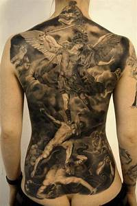 angels vs. demons   Tattoos   Pinterest