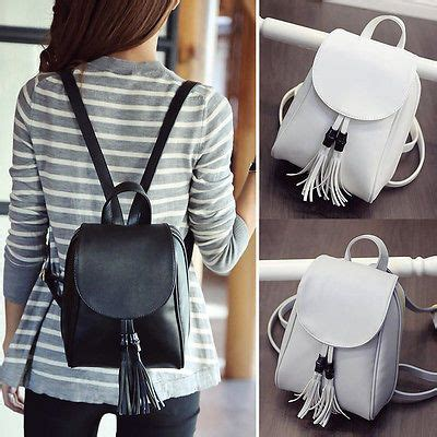 womens faux leather mini small backpack rucksack travel