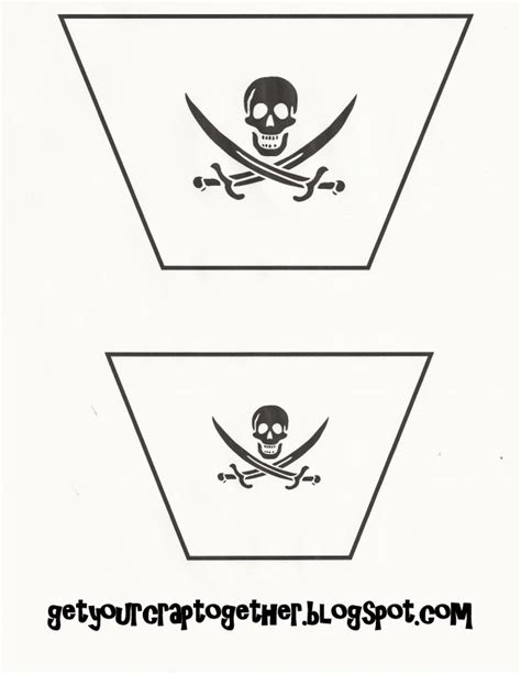 Pirate Ship Sail Template by 31 Days Of Free Pirate Printables Ii