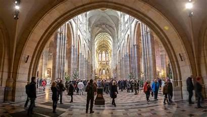 Prague Castle Inside Cathedral Vitus St Walls