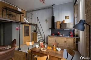 Deco Maison Industriel : d co appartement style industriel exemples d 39 am nagements ~ Teatrodelosmanantiales.com Idées de Décoration