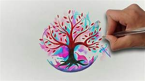 Arbol de la Vida Acuarela / Aquarelle Life tree Nosfe