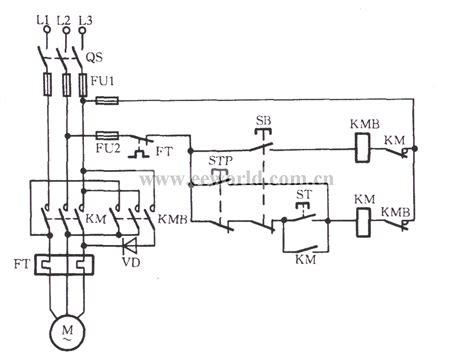 three phase motor braking circuit 1 basic circuit