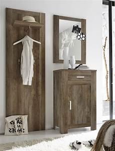 Garderobe 3 Teilig : garderobe set charlie 3 teilig eiche monument paneel spiegel schrank wohnbereiche bad ~ Indierocktalk.com Haus und Dekorationen