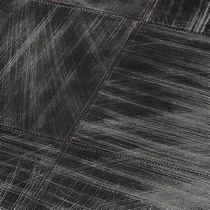 tapis cuir walker gris 200x300 home spirit With tapis peau de vache avec canapé d angle en lin