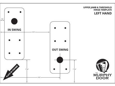 door jamb hinge template jamb threshold hinge templates murphy door