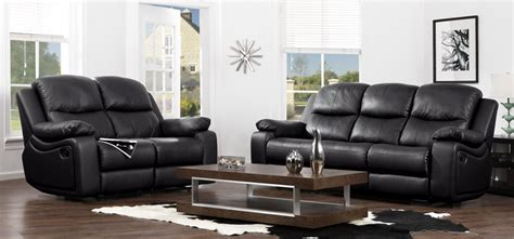 cheap black leather recliner sofas buy cheap black leather reclining sofa compare sofas
