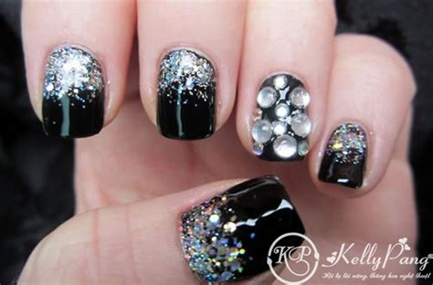 delicate embellished nails   summer pretty designs