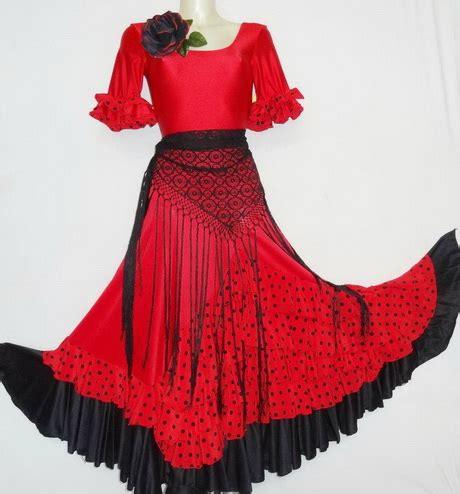 salsa skirt robe flamenco femme