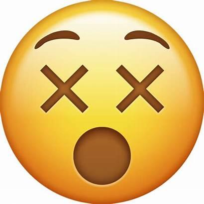 Emoji Dizzy Emojis Iphone Face Transparent Eyes