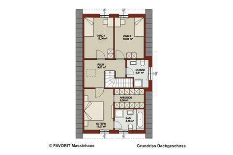 Grundriss Haus 8m Breit by Favorit Massivhaus