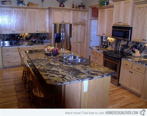 15 different granite kitchen countertops decoration for