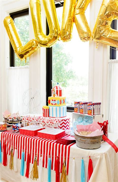 circus themed  birthday party pretty  party