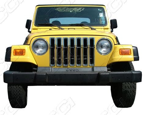 jeep grill jeep wrangler chrome grille insert overlay trim