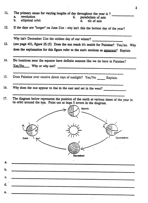 worksheet reasons for seasons worksheet grass fedjp