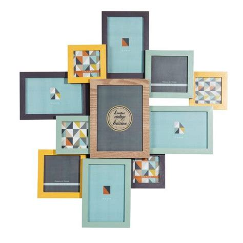 cadre photo 11 vues en bois multicolore vintage corner maisons du monde home accessories