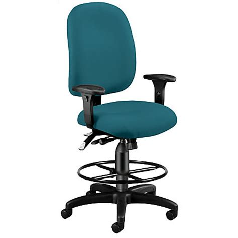 ofm ergonomic task chair with drafting kit teal by office