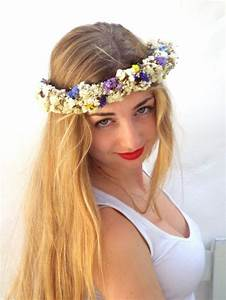 White Flower Crown Wedding Hair Accessories Real Dried