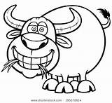 Buffalo Cartoon Coloring Pages Vector Cape Bills Illustration Carabao Indian Headdress Shutterstock Bison Water Getdrawings Getcolorings Printable sketch template