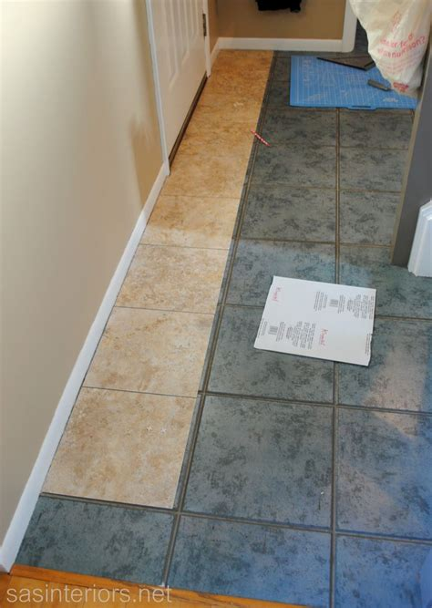 how to lay vinyl flooring in kitchen installing groutable vinyl tile via sasinteriors net 9473
