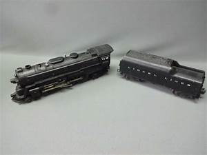 Lionel Steam Locomotive 2055 With 2046w Tender Postwar O