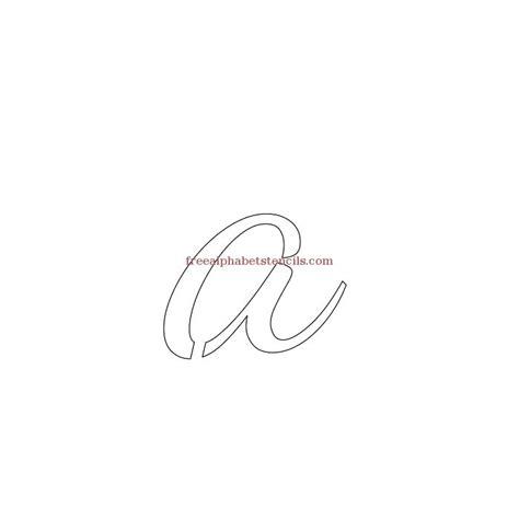 printable lowercase letter stencils casual cursive alphabet stencils freealphabetstencils