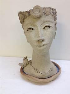 Head, Planters, U2013, Cookie, Scottorn, Ceramics