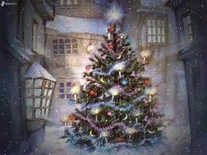 Thomas Kinkade Christmas Village Painting Pictures
