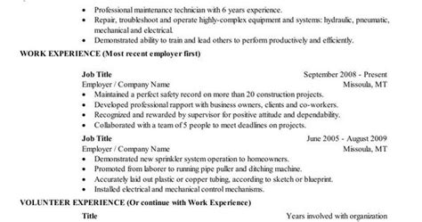 chronological resume this is a fairly standard layout for a chronological resume education and
