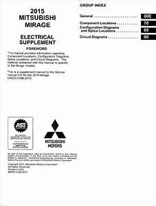 2015 Mitsubishi Mirage Wiring Diagram Manual Original