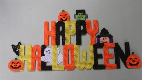 Plastic Canvas-happy Halloween Wall Hanging Plastic-canvas-kits.com Large Plastic Plant Trays Colored Corrugated Custom Fabrication Shelving Lowes Best Surgeons Los Angeles Hanging Bag Holder Ketchup Bottles Surgery Arm Lift Cost