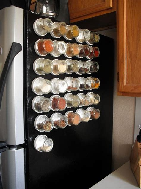 Magnetic Spice Rack For Refrigerator by Spices With Magnets Are Placed On Fridge Kitchen Setups