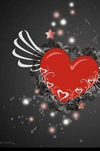 Download Animated heart - Love wallpapers for mobile phone..