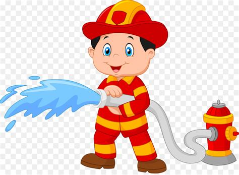 Firefighter Cartoon Fire Hydrant Royalty-free