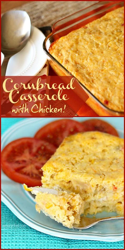 Cornbread Casserole With Chicken (or Not!)  Easy Southern