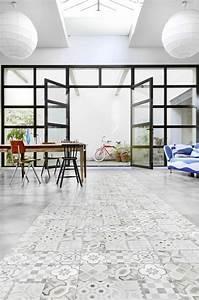 Carreaux De Ciment Pvc : sol en vinyl carreaux de ciment id e inspirante pour la conception de la maison ~ Teatrodelosmanantiales.com Idées de Décoration