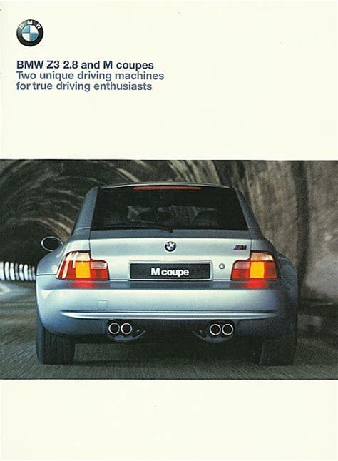 19992000 Bmw Z3 Coupe Sales Brochure Catalog Us 00 28 M