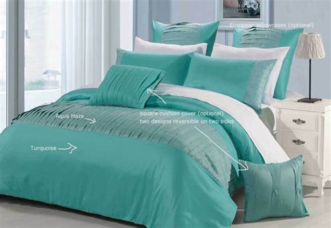 Turquoise And White Duvet Cover by Molise Turquoise King Quilt Cover Set New Duvet
