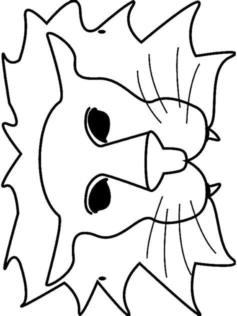 Kleurplaat Masker Poes by N 18 Knutsels Maskers Dieren