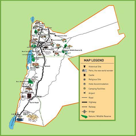 jordan tourist map