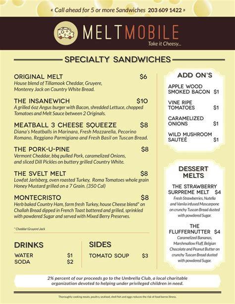 food truck menu ideas  pinterest
