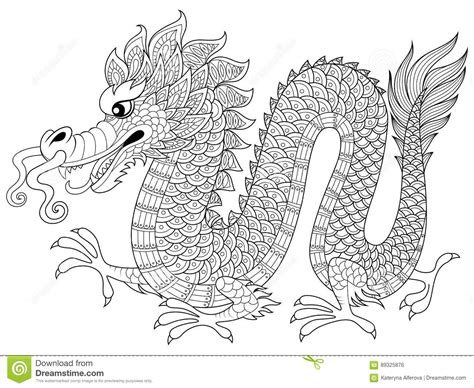 Chinese Dragon In Zentangle Style Adult Antistress