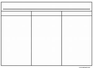 6 best images of printable blank 3 column chart three With 3 column notes template