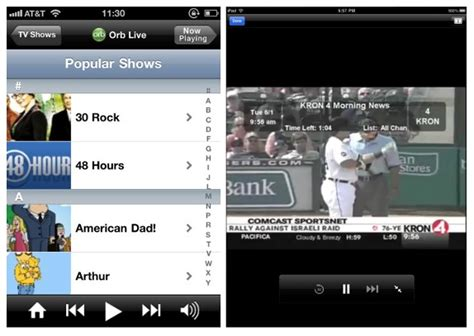 tv shows on iphone tv shows on your iphone with the orblive app