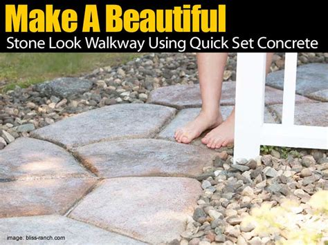 make a beautiful look walkway using set concrete