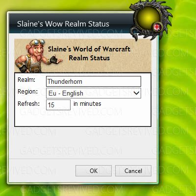 slaines wow realm status gadgets revived