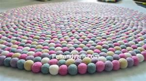 Teppich Kinderzimmer Rosa : rosa f nf farbe filz kugel teppich in verschiedenen gr en ~ Yasmunasinghe.com Haus und Dekorationen