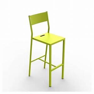 Chaise De Bar Grise : chaise de bar m tal up mati re grise ~ Voncanada.com Idées de Décoration