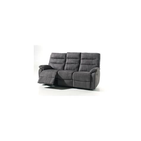 canapé relax tissus 3 places canape cameo relax electrique conforluxe
